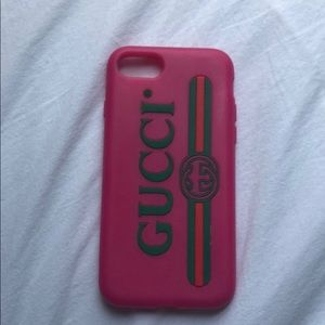 Gucci pink iPhone 7 case